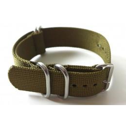 NATO Bracelet vert kaki  22 mm