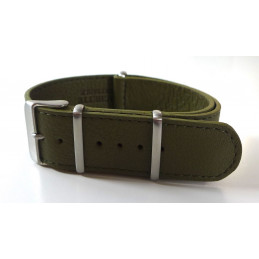 NATO Bracelet cuir 20 mm