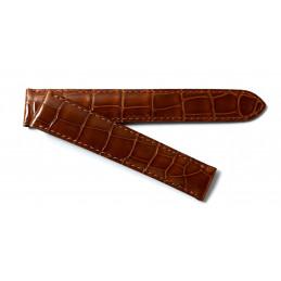 Cartier gold  crocodile strap 18,5  mm
