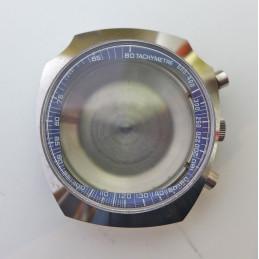 Boitier chronographe sport années 70 tout acier NOS