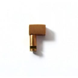 Poussoir plaque or 4 mm
