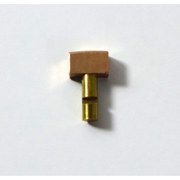 Gold plated pusher 4 mm / 2,50 mm