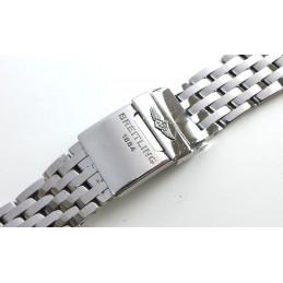 Bracelet Breitling Navitimer acier Pilote 22mm ref W 21 12
