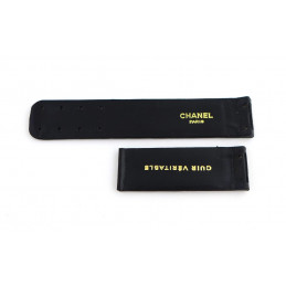 Chanel leather strap 18 mm