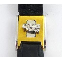 Corum croco strap gold plated / steel buckle 13 mm