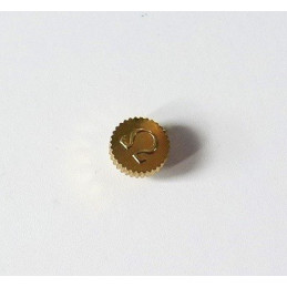 Omega, gold plated crown 3,72 mm / thickness : 2,11 mm