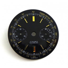 Cadran de chronographe Landeron 48, diamètre 31.51 mm