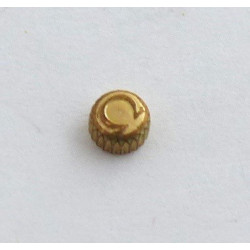 Omega, couronne plaquée or 3.40 mm