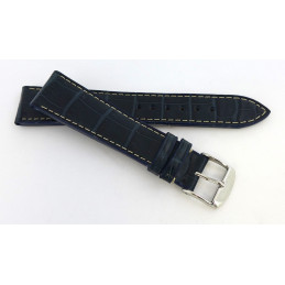 Croco strap with steel buckle 19 mm
