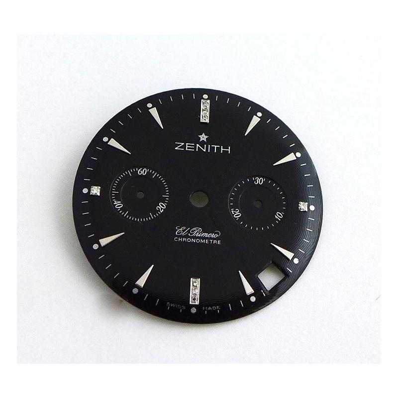Cadran noir rond ZENITH El Primero 29mm