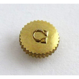 Omega,  gold plated crown  5,80 mm