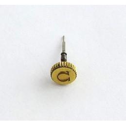 Omega, couronne plaquée or avec tige de remontoir 4,20 mm