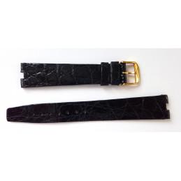 Longines, bracelet croco boucle plaquée or