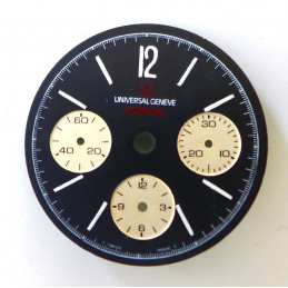 Universal Compax chronograph dial 28mm