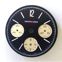Cadran chronographe Universal Compax 29,6mm