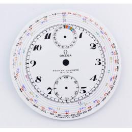 Omega chronograph porcelain pocket watch dial