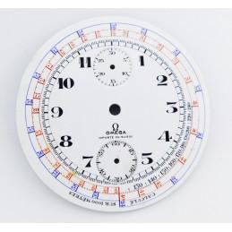 Cadran Omega chronographe gousset porcelaine