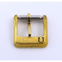 Omega, boucle ardillon plaquée or - 10 mm