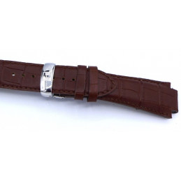Tissot, leather strap 23 mm with folding buckle