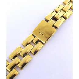 Golden plated strap Baume et Mercier Linea