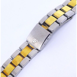 Steel / golden Strap Baume et Mercier
