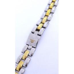 Bracelet acier / doré Baume et Mercier Linea
