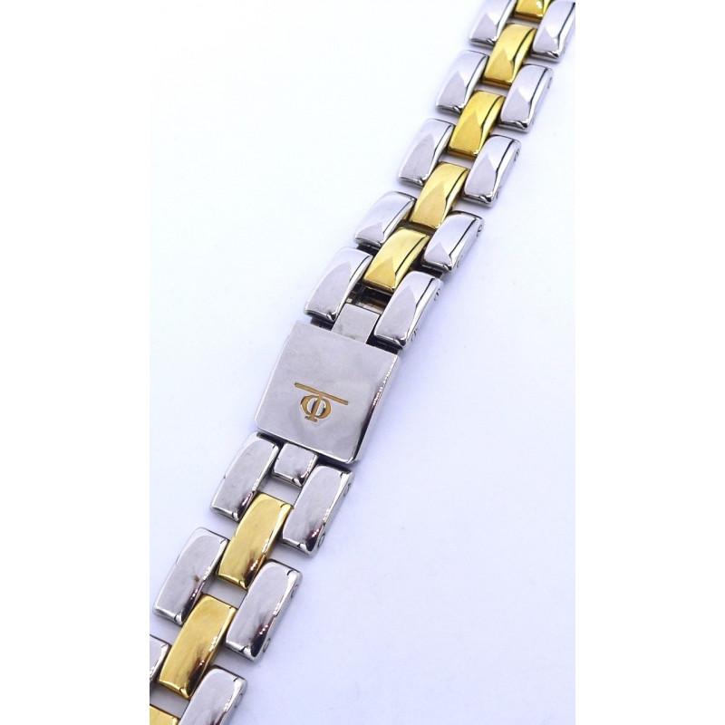 Steel / golden strap Baume et Mercier Linea