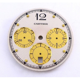 Cartier, chrono Pasha 38 mm dial