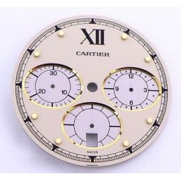 Cartier, chrono Pasha 38 mm dial