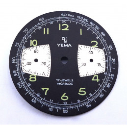 YEMA chronograph dial 2 registers