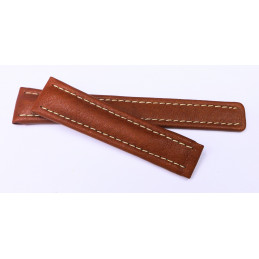 Leather strap Breitling 19 mm