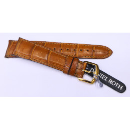 Daniel Roth croco strap with gold buckle 20 mm