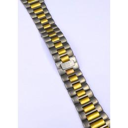 Bracelet titane / doré Baume et Mercier