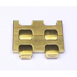 Omega golden plated link 15 mm