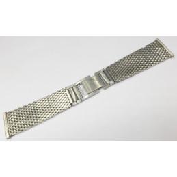 Bracelet acier mailles milanaise 24mm