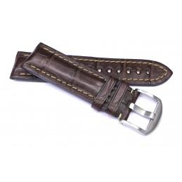 Bracelet croco 24 mm avec boucle acier