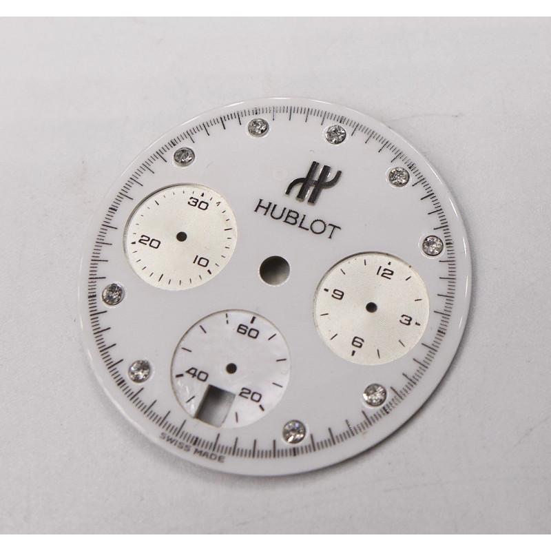 Cadran de chronographe HUBLOT diamanté - diametre: 26,60mm