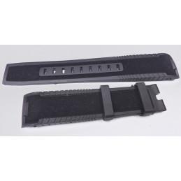 Hamilton - bracelet caoutchouc touché velour 22mm