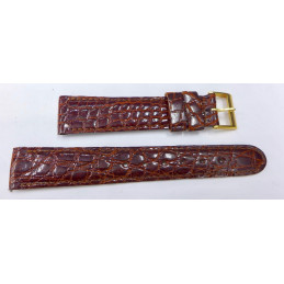 Crocodile strap 17 mm blue