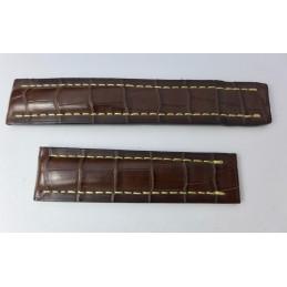Bracelet crocodile 22/20mm compatible Breitling