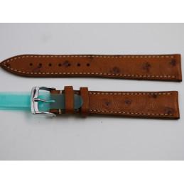 Bracelet cuir d'autruche 19mm
