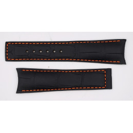 HEUER crocodile strap for deployant buckle 20mm