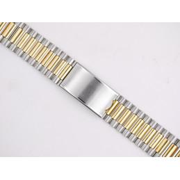 NSA golden / steel strap 22 mm