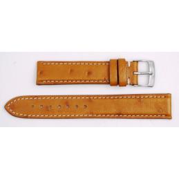 Bracelet autruche gold pour Reverso 17 mm (medium)