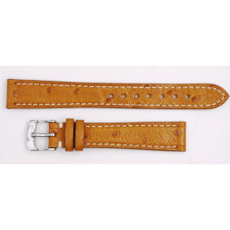 Reverso medium (17 mm) genuine ostrich strap