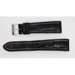 Breitling bracelet crocodile 22mm avec boucle