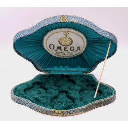 Ultra rare Omega pocket watch shell box for 4 Grand Prix watch circa 1920