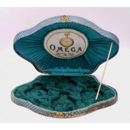 Ultra rare Omega pocket watch shell box for 4 Grand Prix watch circa 1920