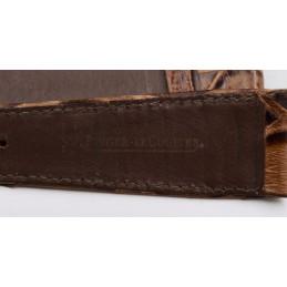 Jaeger Lecoultre strap brown croco 13 mm