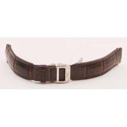 Boucle déployante IWC acier 18mm avec bracelet croco